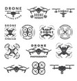set labels with different of drones vector image vector image
