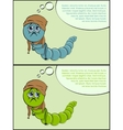 sick caterpillar disease vector image
