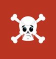 skull and crossbones surprised emoji skeleton vector image vector image