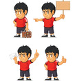 Soccer Boy Customizable Mascot 17 vector image vector image