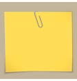 sticky notes and paper clip vector image vector image