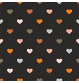 Tile pattern with hearts on black background vector image vector image