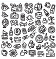 travel doodles vector image vector image