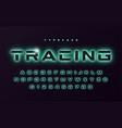 trendy neon light or eclipse style vector image vector image