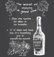 vintage wine chalkboard typography poster vector image
