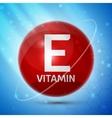 Vitamin E icon vector image vector image