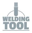 welder worker logo simple gray style vector image vector image