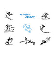 winter sports warms vector image