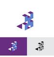 x letter isometric logo volumetric typographic cub vector image vector image