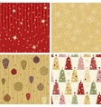Christmas patterns collection 2 vector image