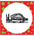 black 8-bit sydney harbor bridge vector image