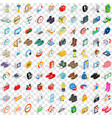 100 sales icons set isometric 3d style vector image vector image
