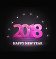 2018 new year count symbol with stars vector image vector image