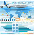 An infographics with an airplane vector image vector image