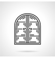 Arc window black line icon vector image