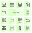 archive icons vector image vector image