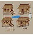 asian hut vector image