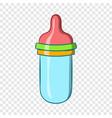 baby milk bottle icon cartoon style vector image vector image