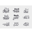 Back to school - labels stickers hand lettering vector image