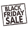 black friday sale sign or stamp vector image vector image