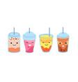 boba tea healthy refresh bubble milk drink vector image