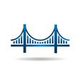 Bridge Blue Icon Logo vector image