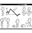 business cartoon metaphor set vector image vector image