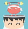 Businessman exercising brain vector image vector image