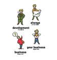 businessman logo set vector image vector image