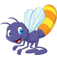 cartoon funny firefly vector image vector image