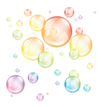 colored transparent bubbles isolated vector image vector image