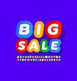 colorful banner big sale creative alphabet vector image