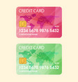 credit card flat vector image vector image