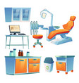 dentist cabinet stomatology room in clinic vector image vector image