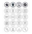 documents linear icons accounting book vector image vector image