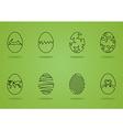 Easter egg green vector image vector image