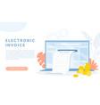 electronic finance bill receipt cartoon bank vector image vector image
