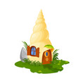 fairy shell house dwelling of dwarf or gnome elf vector image vector image