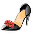 Feminine loafers vector image vector image