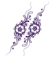 Floral Paisley Henna vector image vector image