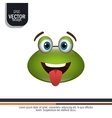 frog emoticon design vector image vector image
