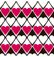 Geometrical valentines day seamless pattern