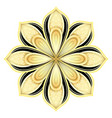 gold and black beautiful decorative ornate mandala vector image