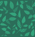 green abstract leaves seamless background vector image vector image