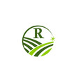 Green project solution center initial r vector image
