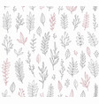 hand drawn vintage botanical pattern vector image vector image