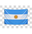hanging flag argentine argentine republic vector image vector image