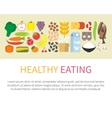 Healthy eating banner Flat vector image vector image