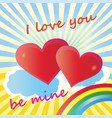 holiday valentine day greeting card i love you vector image