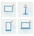 icon set gadgets with wifi vector image vector image